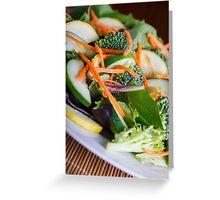 Fresh Vegetable Salad on Angle Greeting Card