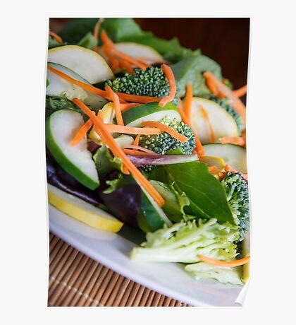 Fresh Vegetable Salad on Angle Poster