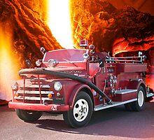 Farming Town Fire Truck by DaveKoontz