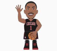 NBAToon of Derrick Rose, player of Chicago Bulls by D4RK0