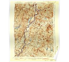 USGS TOPO Map New Hampshire NH Mt Cube 330218 1933 62500 Poster