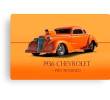 1936 Chevy Coupe Pro Mod w/ID Canvas Print
