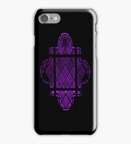 Gothic Leaded Glass Window, in Purple iPhone Case/Skin