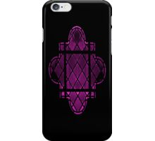 Gothic Leaded Glass Window, in Pink iPhone Case/Skin