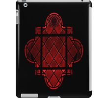 Gothic Leaded Glass Window, in Red iPad Case/Skin