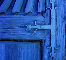 Blue Church Door by JimPavelle
