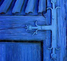 Blue Church Door by JimPavelle