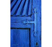 Blue Church Door Photographic Print