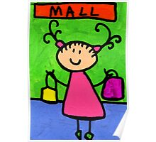 Happi Arti 5 - Shopaholic Little Girl Art Poster