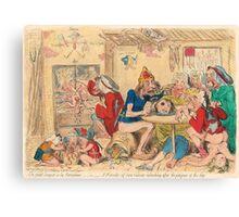 Un Petit souper a la Parisienne by Gillray Canvas Print
