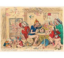 Un Petit souper a la Parisienne by Gillray Photographic Print