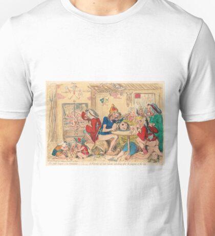 Un Petit souper a la Parisienne by Gillray Unisex T-Shirt