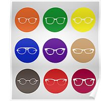9 Glasses Styles Poster