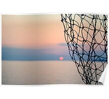A sunrise and a net Poster