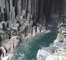 Inside Fingal's Cave by spoilmesweetie