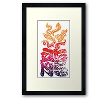 Dragon Flame Framed Print