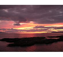 Scottish Highlands Sunset 001 Photographic Print