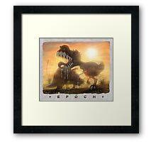 Epoch Cretaceous Dinosaur Battle Framed Print