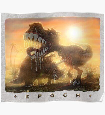 Epoch Cretaceous Dinosaur Battle Poster