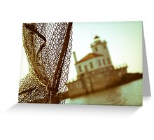 Passing by the Oswego lighthouse Greeting Card