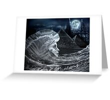 Frozen Sphinx Greeting Card