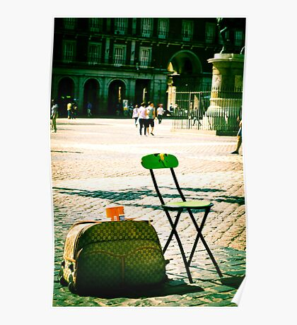 An empty chair in a big plaza Poster