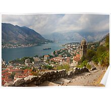 Kotor Panoramic View From the Fortress Poster