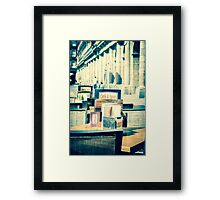 Tables and Chairs Framed Print