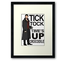 Captain Hook - Tick Tock Framed Print