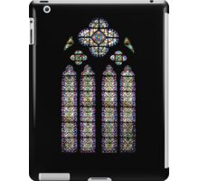 Leaded Glass Window, Notre Dame, Paris iPad Case/Skin
