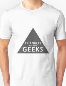 90's Grunge Retro Circle Triangle's Are For Geeks Symbol T-Shirt