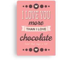 Cute Valentine's Day Design Canvas Print