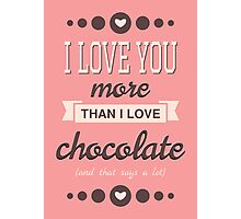 Cute Valentine's Day Design Photographic Print