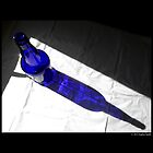 Cobalt Blue Glass Bottle Shadow  by © Sophie W. Smith
