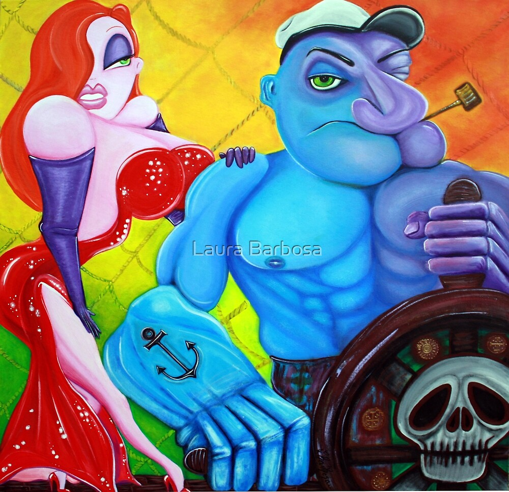 Popeye and Jessica Rabbit by Laura Barbosa