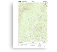 USGS TOPO Map New Hampshire NH Grantham 20120709 TM Canvas Print