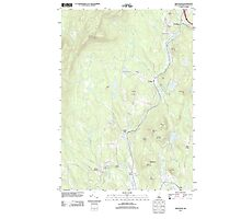 USGS TOPO Map New Hampshire NH Grantham 20120709 TM Photographic Print