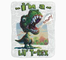 I'm a T Rex Painting Kids Clothes