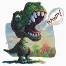 Lil' T Rex Prehistoric Roar by MudgeStudios