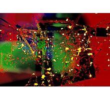 Fairy light on a vine trellis Photographic Print