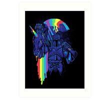 how to make a rainbow Art Print