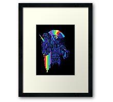 how to make a rainbow Framed Print