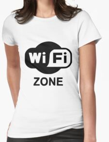 Wi fi  Womens Fitted T-Shirt