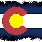 Colorado flag in Grunge by nadil