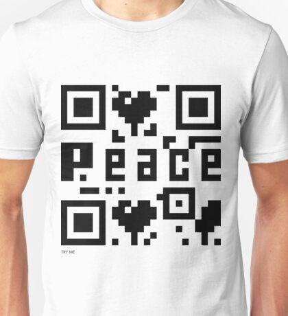 QR Code - Peace Unisex T-Shirt