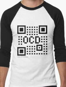 QR Code - OCD Men's Baseball ¾ T-Shirt