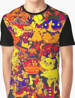 cartoon mixed Graphic T-Shirt