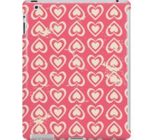 Cute Vintage Hearts iPad Case/Skin
