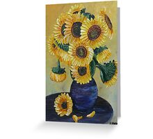Sunflowers on Yellow Greeting Card