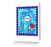 Indian Maiden Love Greeting Card